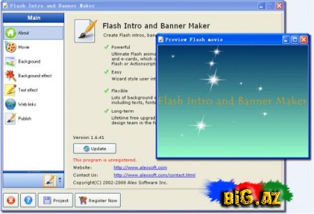 Aleo Flash Intro Banner Maker v2.8.111