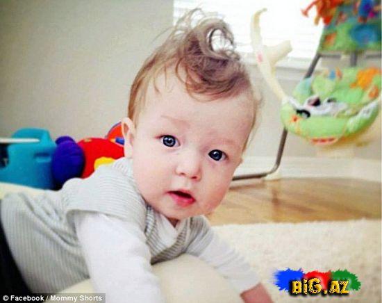 Körpələrin ən qeyri-adi saç düzümləri (Fotolar)