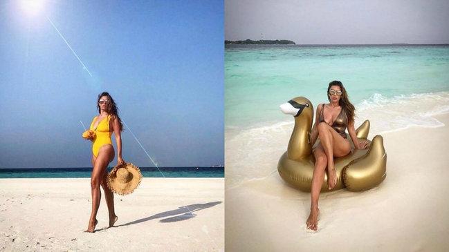 Azərbaycanlı modelin Maldiv gəzintisi - FOTOLAR