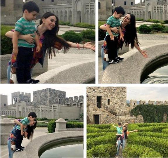 Manana qızı və oğlu ilə istirahətdə - FOTOLAR