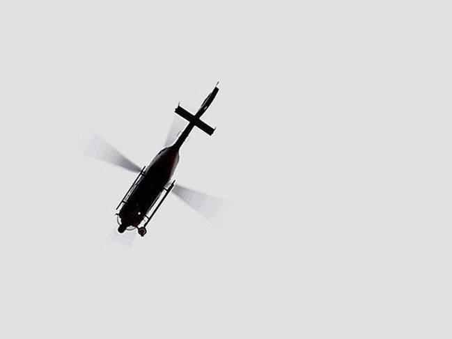 Jurnalistlərin olduğu helikopter gölə düşdü