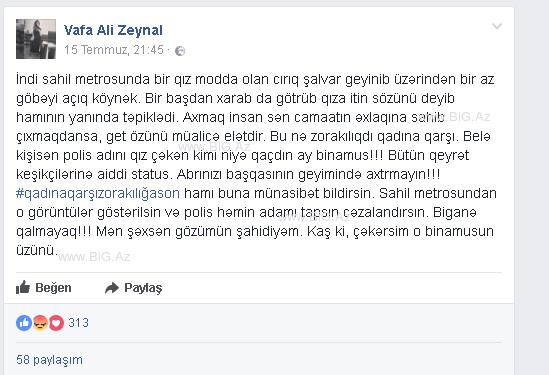 Bakı metrosunda BİABIRÇI OLAY: Cırıq şalvar geyinən qızı təpiklədilər, sonra isə... - FOTO