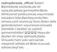 Nadir Azərbaycan xalqını təhqir etdi