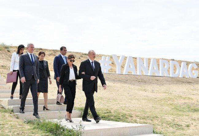 """İlham Əliyev """"Yanardağ"""" qoruğunun açılışında - FOTOLAR"""
