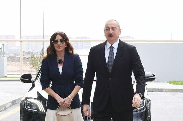 İlham Əliyev və Mehriban Əliyeva Balaxanıda