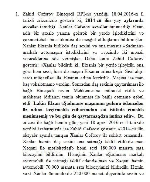 Vəkil Elxan Babayevə bəraət istəyir - FOTOLAR