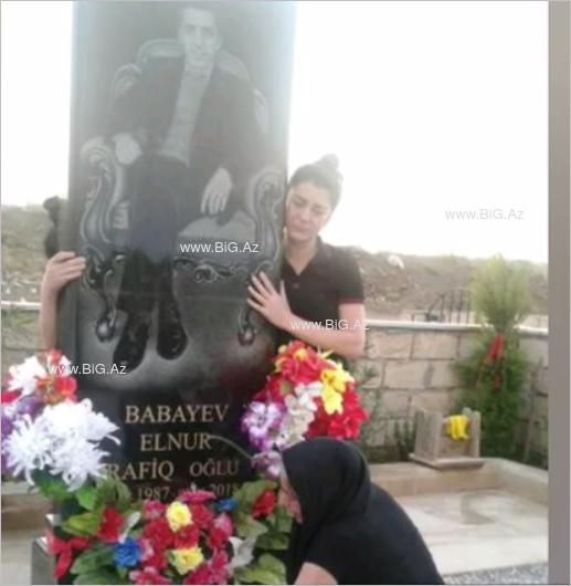 İtalyada göldə boğulan 31 yaşlı Elnurun məzarından ÜRƏKDAĞLAYAN FOTOLAR
