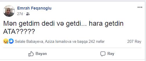 Koronavirusdan ölən azərbaycanlı jurnalistin son sözləri hər kəsi KÖVRƏLTDİ - Oğlu danışdı - FOTO