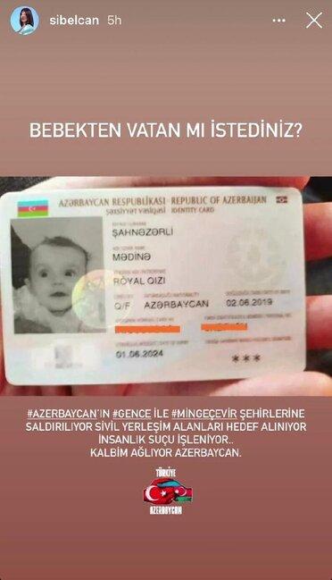"""""""Qəlbim ağlayır, Azərbaycan"""" - Sibel Can"""